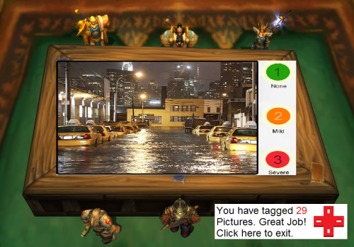 A rough concept of what the tagging screen may look like. (Screenshot is from World of Warcraft and has been altered)